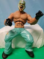 "WWE Wrestling Ring Giants Action Figure REY MYSTERIO 14"" Poseable  2005"