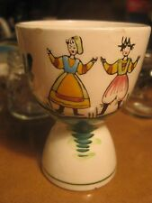 Vintage Ceramic Egg Cup Flowers Floral Couple Dutch???