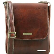 Tuscany Leather JOHN cross body bag for men with  Genuine Leather Luxury Quality