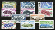 Monaco Satz 1191 - 1201 postfrisch Satz Automobile 1975 Motiv Autos Cars MNH