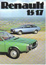Renault 15 GTL & 17 TS 1976 Original UK Sales Brochure