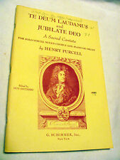 TE DEUM LAUDAMUS AND JUBILATE DEO by Henry Purcell, vocal choir score/piano