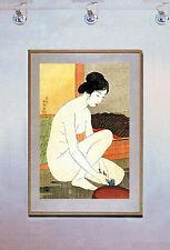 Woman at Bath 15x22 Hand Numbered Ltd.Edit. Japanese Print Goyo Asian Art Japan