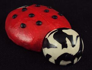 Comforting Clay Hand-Held Charm Good Luck Ladybug NEW Free Ship USA  #2676