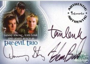 BTVS Men of Sunnydale The Evil Trio Triple Auto Card