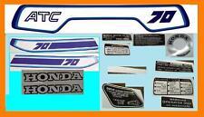 1981 ATC70 ATC 70 HONDA EMBLEM DECAL STICKER SET CES/A7/81