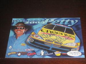 RICHARD PETTY NASCAR AUTOGRAPH SIGNED 4.5X5.5 CARD JSA