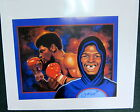 LEON SPINKS AUTOGRAPHED LITHOGRAPH  RON LEWIS Heavyweight boxing champion