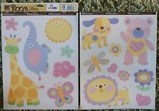 Baby Nursery Children Kid Girl Pink Animals Teddy Wall Sticker Decal Bedroom