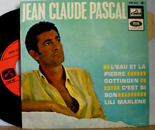 """JEAN CLAUDE PASCAL L'EAU ET LA PIERRE, GOTTINGEN, LILI MARLENE 7 """" SINGLE"""