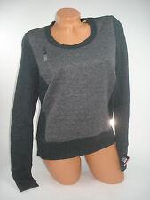 Victoria Secret Sweater VSX Sport Long Sleeve Gray Open Back Finger Holes XS NEW