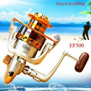 new 12BB Portable Left/Right Interchangeable Spinning Fishing Reel Wheel EF500