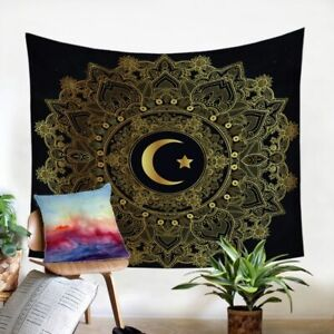 Mandala Moon Star Floral Wall Tapestry Hanging Throw Cover Home Room Decoration