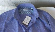 NWT $148 ROBERT GRAHAM Men's LS BF Shirt Sz 16 (Eur 41) 100% Cotton Blue