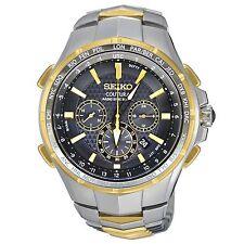 Mens Seiko Solar Coutura Stainless Chronograph Alarm Radio Control Watch SSG010