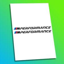 BMW M Performance Racing Car Sportscar F1 Race Decal Stickers Logo Badges M3 M4