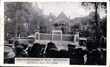 Leicester. Boer War Memorial Unveiled 1909.