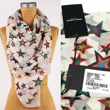 eb0df45a719 NEW $795 SAINT LAURENT Off White 100% WOOL Multicolor STAR PRINT Oversized  SCARF