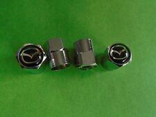 MAZDA CHROME DUST CAPS TYRE VALVE CAPS  MX5  XEDOS  RX8 MX3
