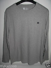 TIMBERLAND GREY LONG SLEEVE SLIM FIT TOP SIZE L NWT