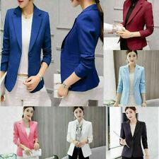 Women Fashion Slim Casual Tops Business Blazer Suit Jacket Coat Outwear S-2XL