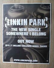 Linkin Park - Somewhere I Belong - 2003 - MUSIC PRESS ADVERT 33 X 27 CM WALL ART