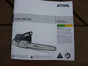 GENUINE STIHL MS461 CHAINSAW OPERATORS OWNER MANUAL
