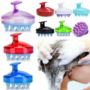 Silicone Shampoo Scalp Shower Washing Hair Massager Body Brush Comb Soft