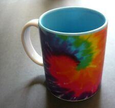 [Jumbo] Tie Dye Rainbow Universe Ceramic Coffee Mug, Hip, Rasta