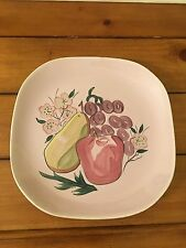 "Red Wing Fruit Pattern Dinner Plate ~ 10-1/2"" ~ Pink ~ Belle Kogan ~ Vintage"
