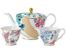 Wedgwood Butterfly Bloom Teapot Sugar Bowl & Creamer 3 PC Tea Set New Gift Boxed