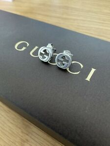 Beautiful Gucci Genuine Double G Stud earrings Sterling Silver Hallmarked