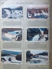 6 Sammelbilder Echte Wagner Album 3 Serie 32  TOP Die größten Wasserfälle