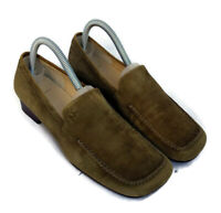 Anne Klein womens green suede leather flats casual slip on loafers shoes size 8M