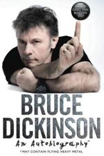 Bruce Dickinson SIGNED book What Does This Button Do? IRON MAIDEN autographed