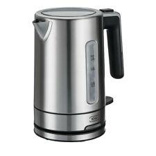 Wasserkocher 1 Liter Edelstahl Schwarz 2200W 19,5 cm x 21,0 cm klein LED KHG