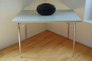 50er Tisch Esstisch Küchentisch Chrom Resopal