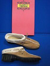 7.5 N Van Eli Camel Brown White Bronnie Narrow Ladies Womens Shoes Mules VanEli