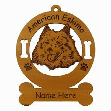 American Eskimo Head Dog Breed Ornament Personalized With Your Dog's Name 1231