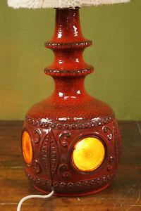 70er Table Desk Lamp Vintage Floor Lamp Ceramic Lamp German Ceramic Light 60er