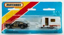 1985 Matchbox Two-Packs TP-113 Caravan Set / Porsche BLACK / Caravan MOBILE 500