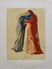 Salvador Dali Signed L/E Lithograph DANTE & BEATRICE from DIVINE COMEDY SUITE