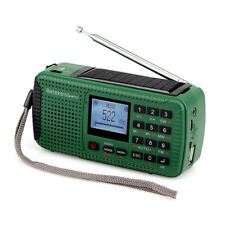 Portable FM/MW/SW Hand Crank Radio MP3 Player Digital Record Clock Phone Charger