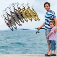 5PCS Metal Fishing Lures Bass Crank Bait Spoon Crank Bait Tackle Hooks