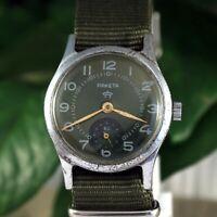 Raketa Vintage Soviet Russian Military Mechanical USSR Dress Men's Wrist Watch