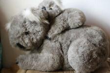 "Sale! koala plush mom and baby 2 pc vintage soft australia large stuffed toy 14"""