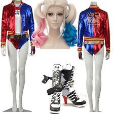 Original Batman Suicide Squad Joker Harley Quinn Cosplay Costume Custom Size