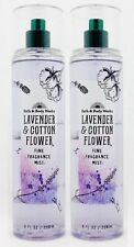 2 Bath & Body Works LAVENDER & COTTON FLOWER Fine Fragrance Mist Body Spray 8 oz