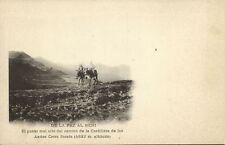 bolivia, BENI, Punto mal Alto Camino Cordillera de los Andes Cerro Sorata (1899)