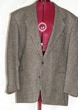 MEN'S Sports Suit JACKET 100% wool MULTISHADES OF BEIGE woven  Size 42